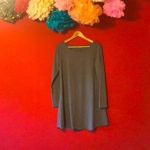 SOFT & LIGHTWEIGHT GREY COTTON TUNIC DRESS